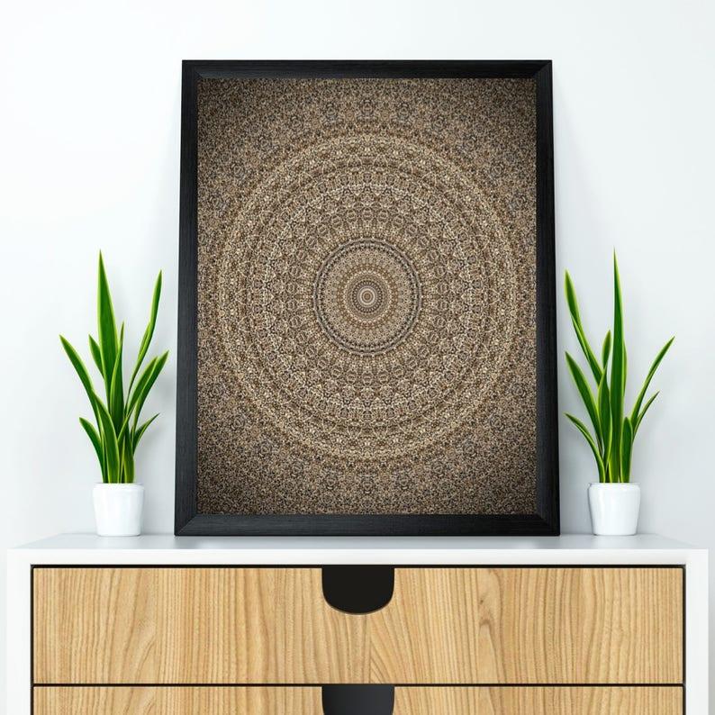 Mandala wall art Mandala poster Mandala wall decor Yoga image 0