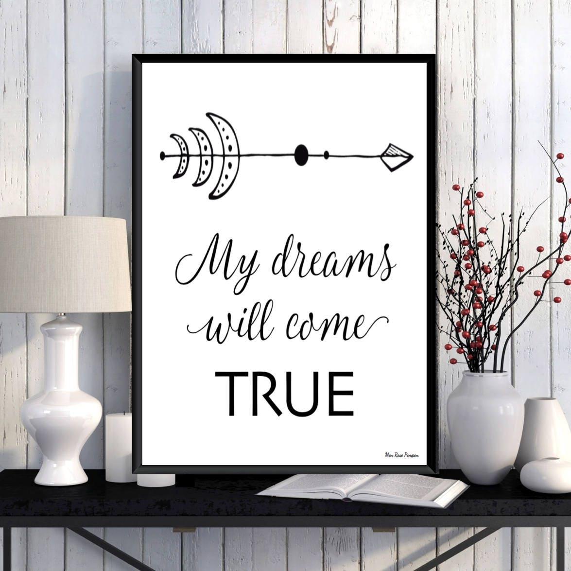 affiche noir blanc citation inspiration et motivation   etsy