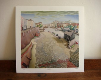 Bristol print - Cobbles - limited edition giclee print - Bristol art