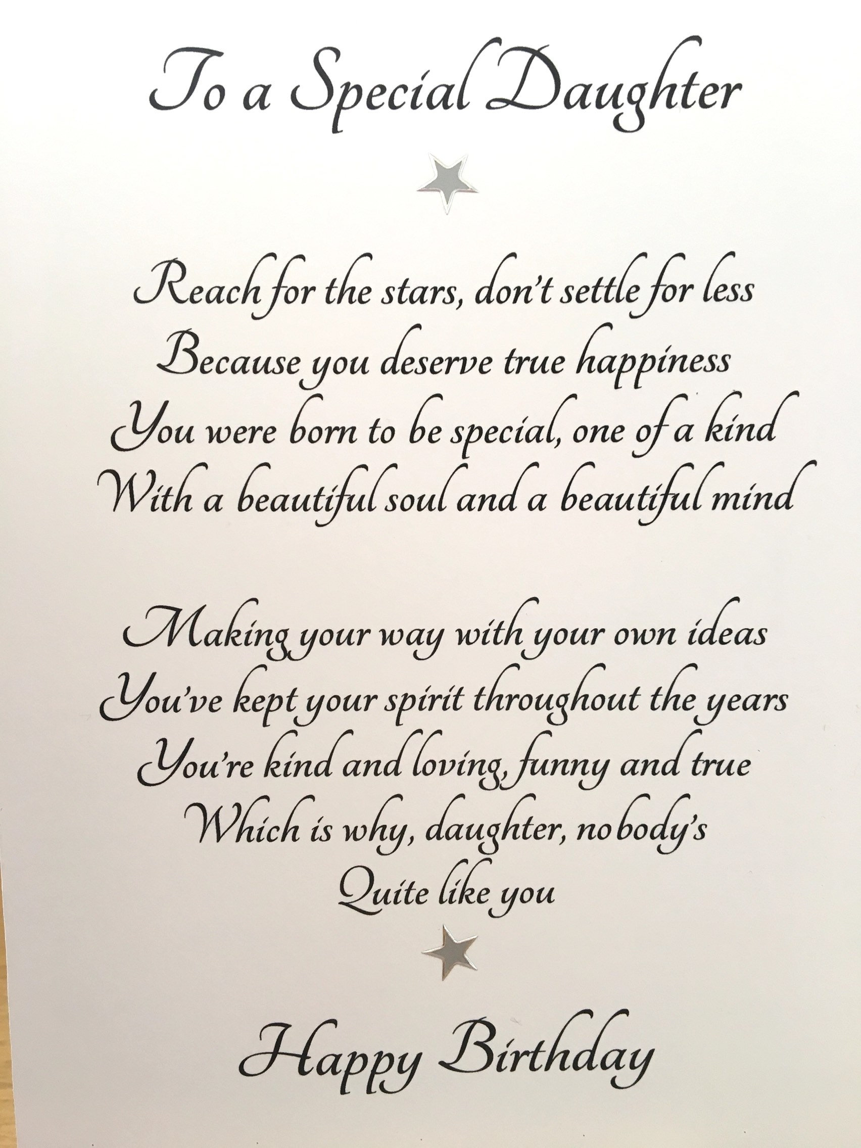 Card For Adult Daughter Special Daughters Birthday