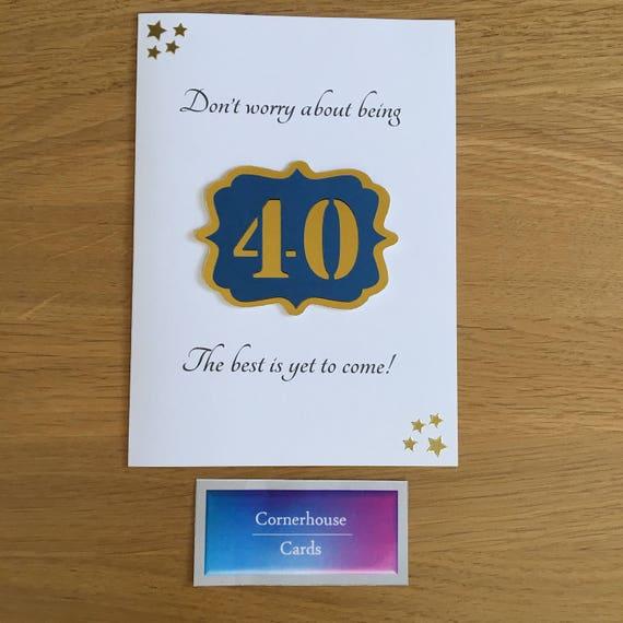 40th Birthday Card For 40 Year Old Milestone
