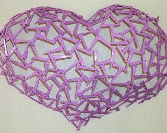 MILLENNIUM HEART wall Sculpture made by Corey Ellis