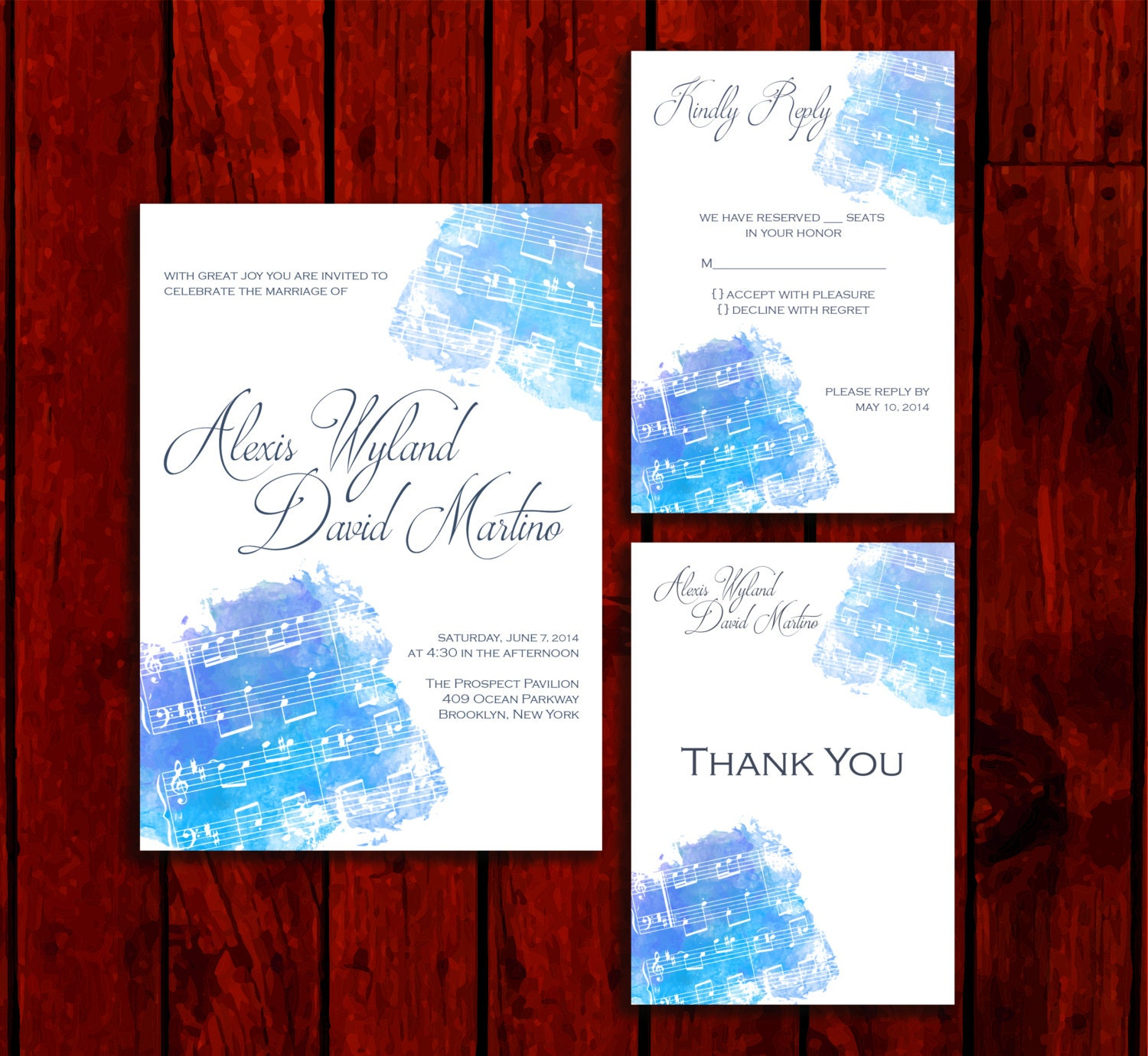 Beautiful Music: Wedding Invitation Suite Print at Home | Etsy