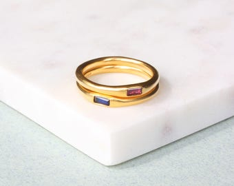 A Baguette Ruby Ring