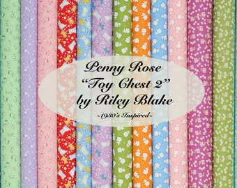 """Riley Blake """"Toy Chest 2"""" by Penny Rose Studio ~ FAT QUARTER BUNDLE ~ 14 Different Fabrics"""