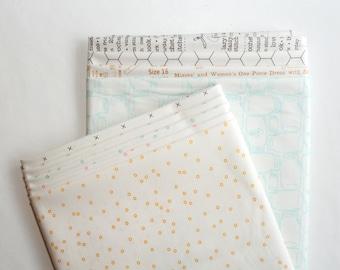 "Riley Blake Designs ""Bee Backgrounds"" By Lori Holt ~ Low Volume ~ 9 Fat Quarter Bundle"