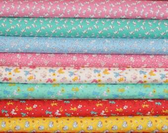 "Washington Street Studio ""Toy Box Miniatures"" by Sara Morgan ~ FAT QUARTER BUNDLE ~ 12 Different Fabrics"