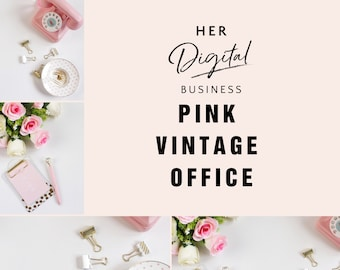 Pink Vintage office styled stock photography,Instagram post, blog posts, social media posts
