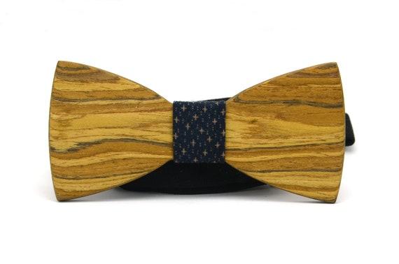 NEU Herren hölzerne Bow Tie Fliege Gitter Krawatte Hochzeit Holzfliege DE