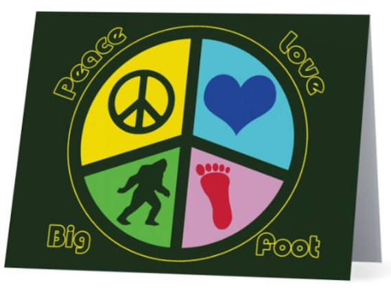 Love and Bigfoot Notebook Peace