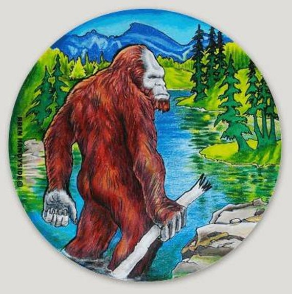 "Springtime Sweetheart/'s  3/"" round Bigfoot Sticker"