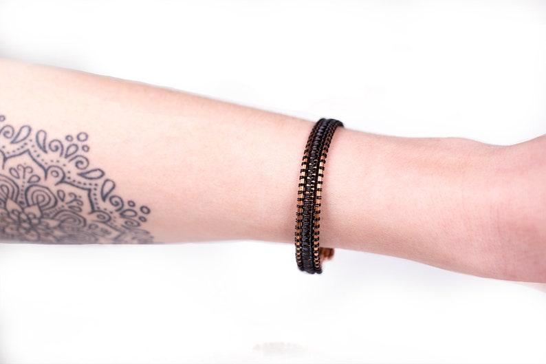 Black /& Copper Wire Wrap Bracelet