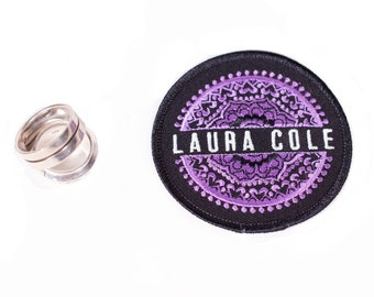 Laura Cole Embroidered Mandala Iron On Circle Patch