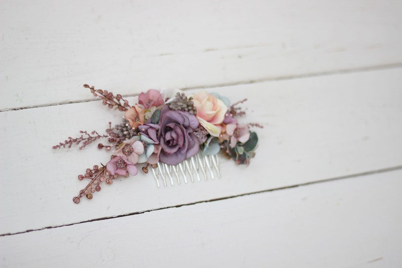 Flower comb for  pastel wedding