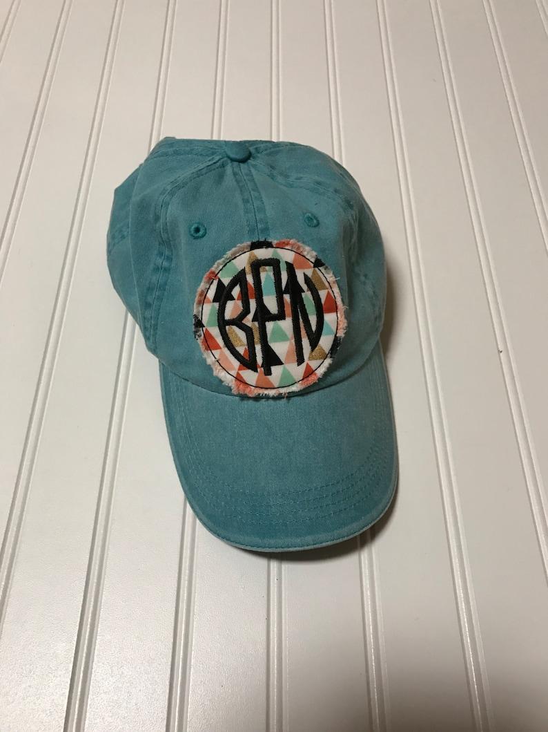a9161325 Monogrammed baseball capraggy patch baseball cap monogrammed | Etsy