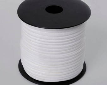 5 Metters aspect imitation suede blanc3 mm Ribbon
