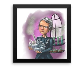 Marie Curie Framed poster