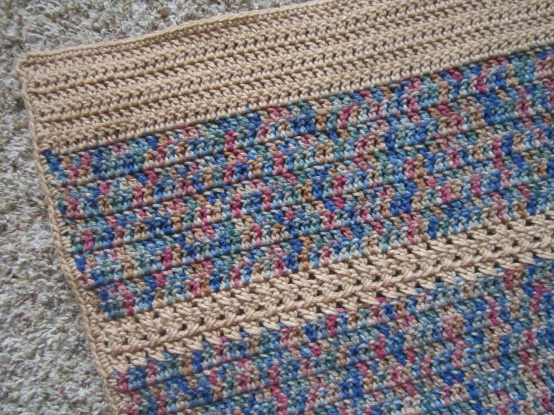 Crochet Blanketafghan Manly Colors Etsy
