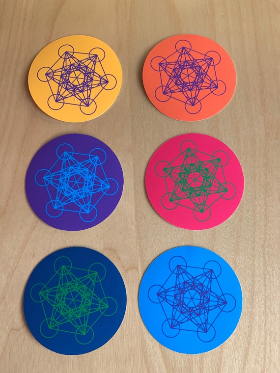 Metatrons Cube Vinyl Sticker Waterproof Decal