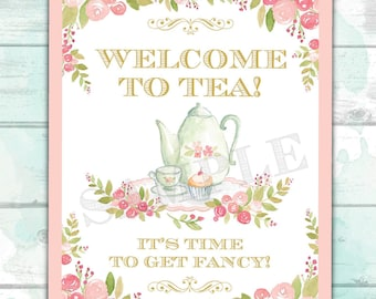 image relating to Tea Party Printable titled Tea social gathering printable Etsy