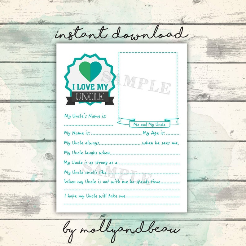 graphic regarding Father's Day Questionnaire Printable known as Fathers Working day Printable, All Pertaining to my Uncle Questionnaire for Children, I Delight in my Uncle, Adorable Fathers Working day Reward for Uncle, Ideal Uncle Printable