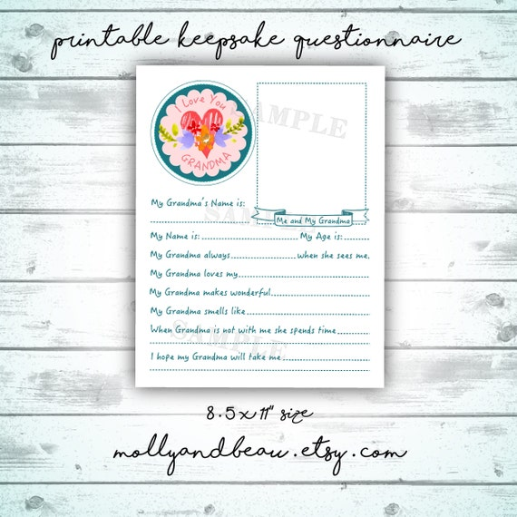 graphic about All About Grandma Printable called Moms Working day Printable Reward Pack, Lovely All In excess of Mommy, Grandma, Aunt and Godmother Questionnaires for young children, Lovable Moms Working day Present towards Boy or girl