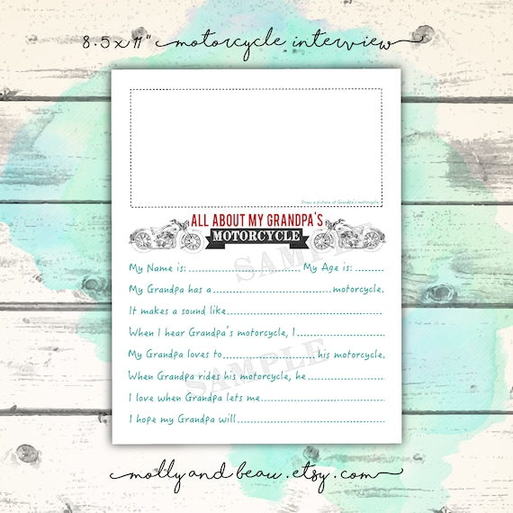 It's just a photo of Grandpa Questionnaire Printable with age printable