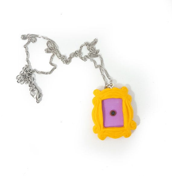 FRIENDS tv Show necklace Polymer clay Door frame Peephole