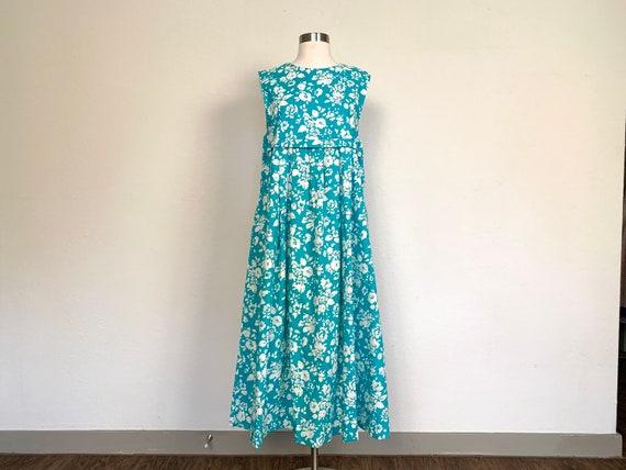 Vintage 1980's Laura Ashley blue floral dress size