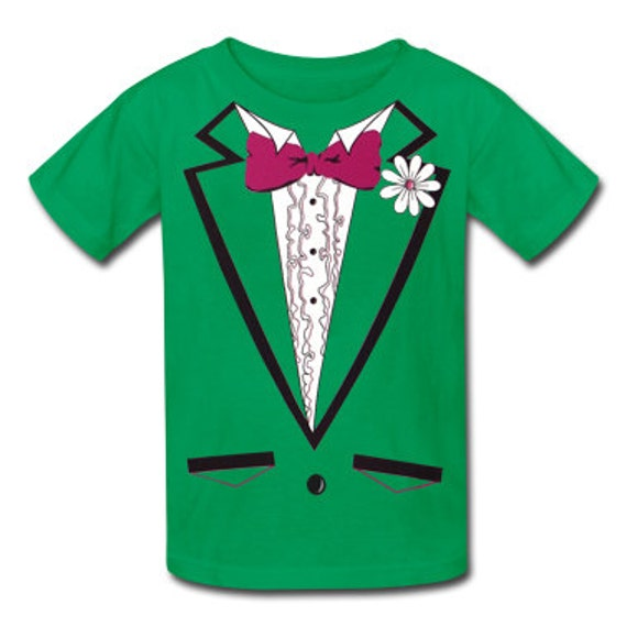 4aed62809 St. Patrick's Day Tuxedo T-Shirt For Kids 1 | Etsy