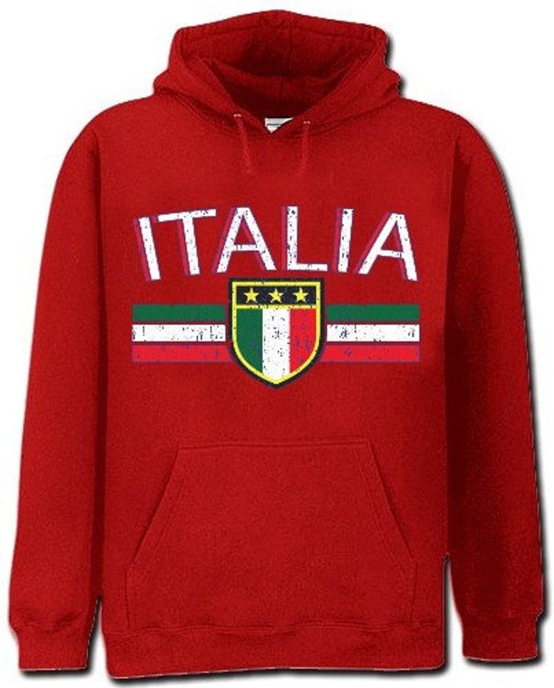 Italia Vintage Shield International Mens Hoodie