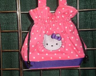 Girls Personalized Purse, Girls Monogram Purse, Girls Personalized Handbag, Girls Monogram Handbag. Hello Kitty Purse, Pink Polka Dot