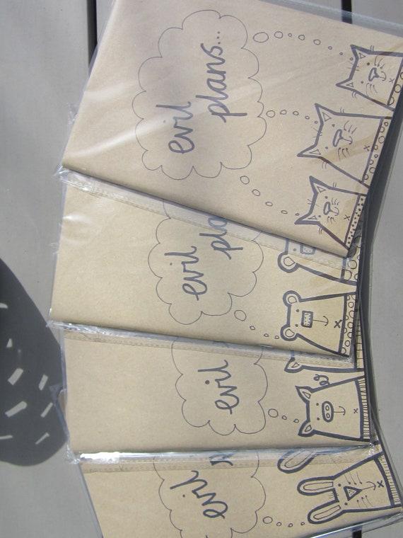 Plain paper A5 note books- The Pants Gang -evil plans