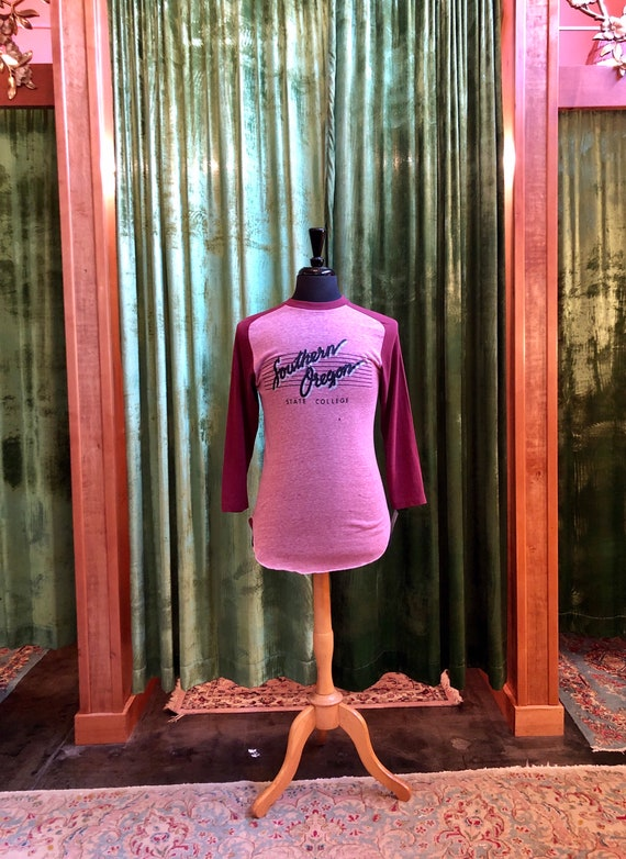 Vintage 70's burgundy and heathered pink Southern