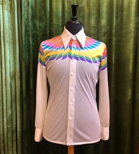 1970s Nik-Nik Disco Shirt Psychedelic Thunderbird