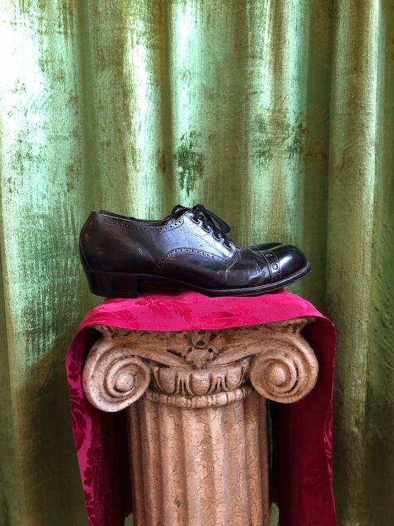 1940s Edwardian leather oxfords