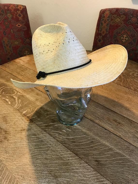 VTG Men s Resistol Self Conforming Handwoven Straw Cowboy  1949e7de42b4