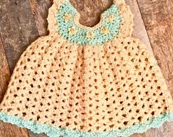 Crochet Newborn Dress, Newborn Dress, Pinafore Dress, Newborn Clothes, Crochet Pinafore Dress, Crochet Baby Dress, Newborn Photo Props