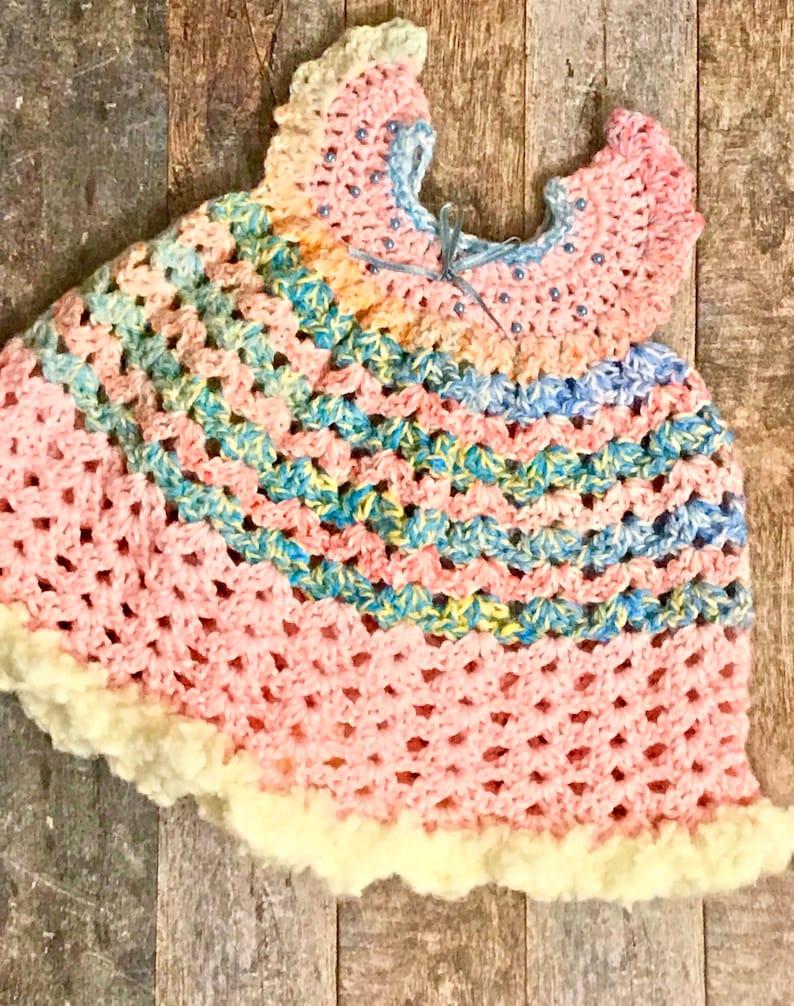 7807ec96f Crochet Newborn Dress Newborn Dress Pinafore Dress Newborn