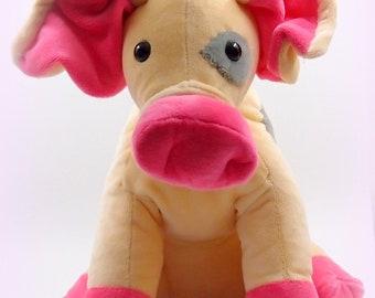 On ordered!! Plush pig, stuffed animal, CA. 25 cm Large