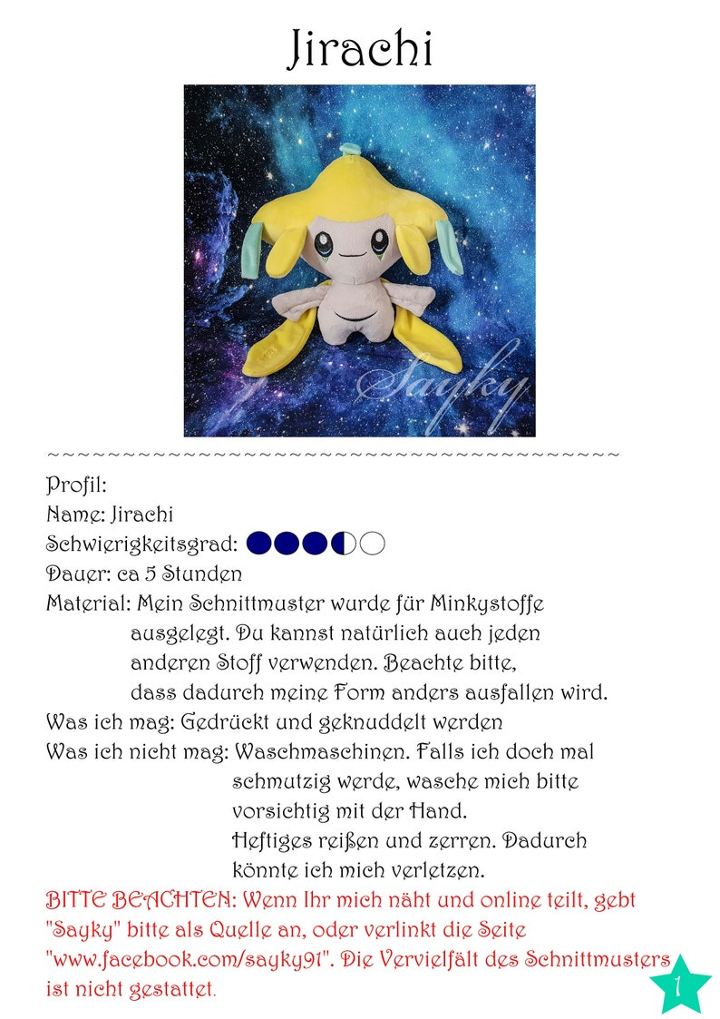 Jirachi Tutorial Deutsch