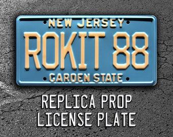Buckaroo Banzai | Peter Weller's Jet Car | ROKIT 88 | Metal Stamped Replica Prop License Plate