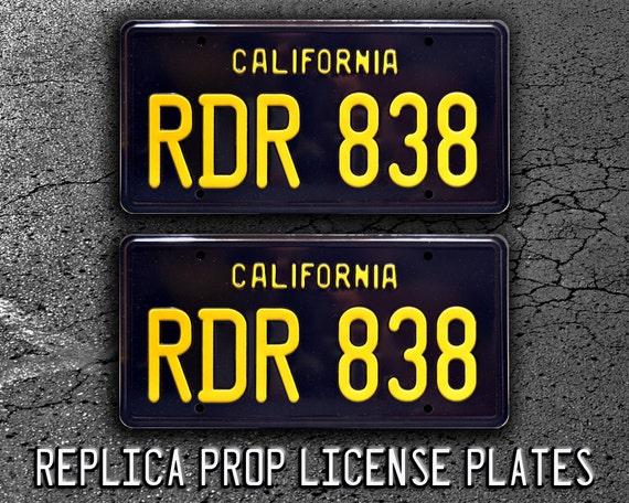 Bullitt RDR 838 Metal Stamped License Plate