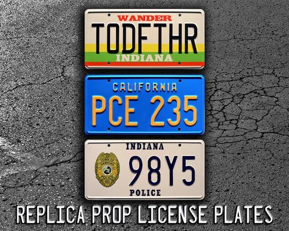 Hopper/'s Blazer Metal Stamped License Plate Stranger Things