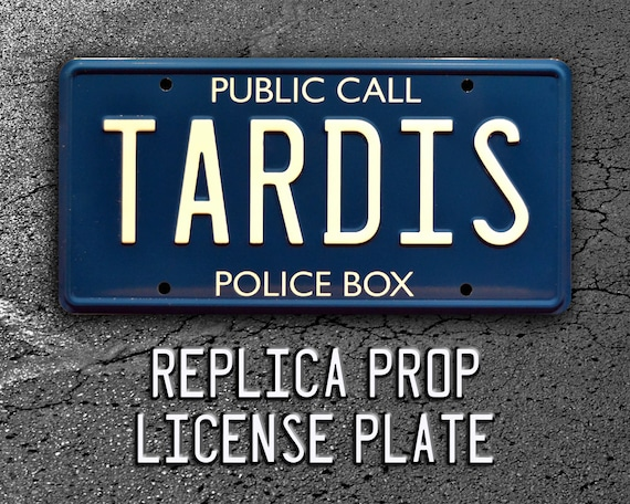 Auto Doctor Who Blue Chrome License Plate Frame My Other Ride Is The Tardis