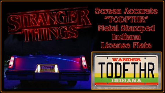 Hopper Billy Celebrity Machines Stranger Things Metal Stamped License Plates
