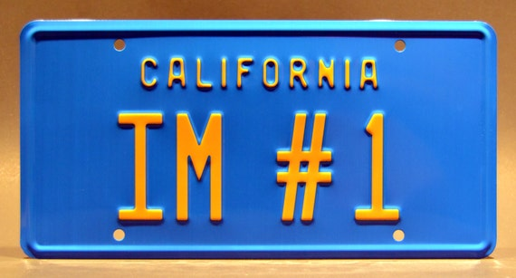 Will Ferrell/'s Pontiac Catalina IM #1 Metal Stamped Vanity Prop License Plate Anchorman