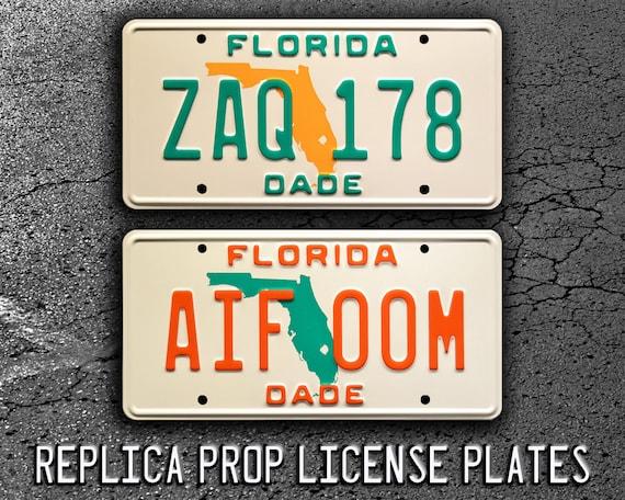 Florida ZAQ 178 Celebrity Machines Miami Vice Sonny Crockett/'s Ferrari Daytona Spyder 365 GTS//4 Metal Stamped Vanity Prop License Plate
