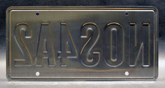 Charles Manx/'s Wraith NOS4A2 Metal Stamped Vanity Prop License Plate Celebrity Machines Joe Hill Stephen King