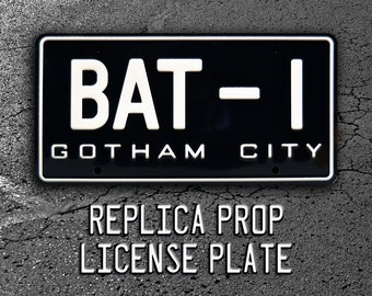 Batman | BAT-1 | Metal Stamped Standard USA Size Vanity License Plate